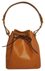 Louis Vuitton Epi Canvas Noe Leather Brown Tote in Red