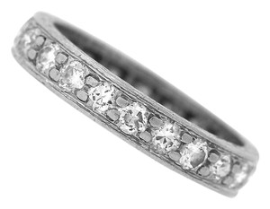 Other Antique Art Deco Hand-Etched Platinum .66ctw Diamond Wedding Band Ring