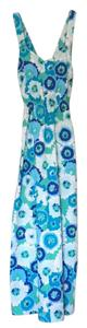 blue, white Maxi Dress by Ellen And Ollie