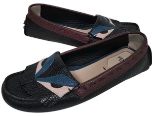 Fendi Mocs Monster Black Flats