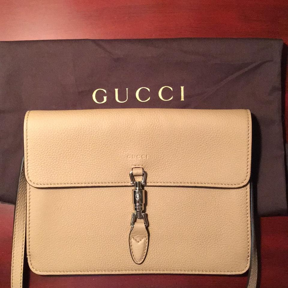 1006e70f108 Gucci Jackie Soft Convertible Wallet Crossbody Beige Leather Cross ...
