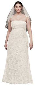 David's Bridal Ivory Beaded Lace with Empire Waist (Style: 4xl9s8551) Formal Wedding Dress Size 16 (XL, Plus 0x)