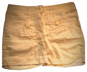 H&M Cargo Cuffed Shorts Yellow