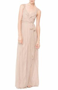 Joanna August All Tomorrow's Parties 'lacey' Ruffle Wrap Chiffon Gown Dress