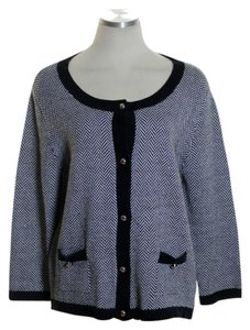 Covington Knit Print 3/4 Sleeve Cardigan
