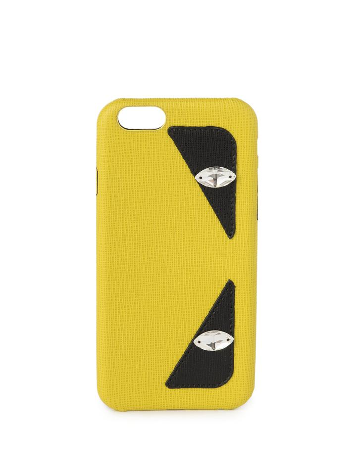 best sneakers 4b9b2 27a14 Fendi Yellow Monster Saffiano Leather Iphone 6 Case Bugs Tech Accessory 70%  off retail