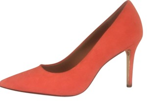 Tory Burch Suede Coral Poppy Red (Coral) Pumps