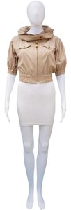 Burberry Blue Label Cropped Hooded Gold Hardware TAN Jacket