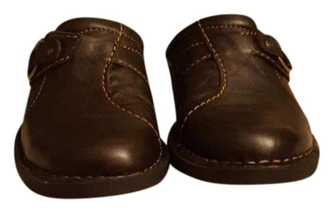Item - Dark Brown Leather Box Nikki Colony New In Mules/Slides Size US 7 Narrow (Aa, N)