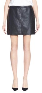 Treasure&Bond Mini Leather Mini Leather Skirt Black