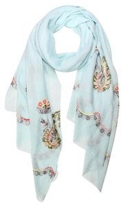 Other New Embroidered paisley oblong scarf Spring Scarf