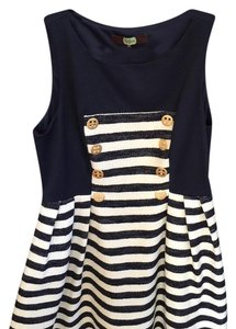 Eva Franco short dress Navy on Tradesy