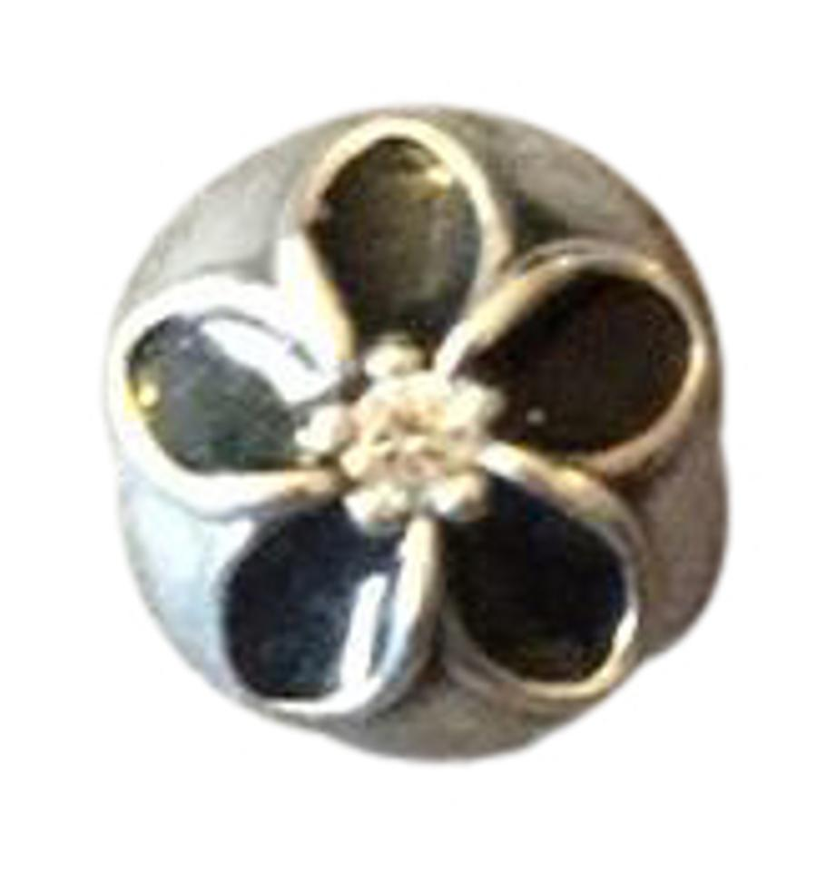 70e30140f cheap pandora mystic floral with clear cz and enamel clip