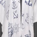 Other Nautical print cover up with frayed hem cover up Image 1