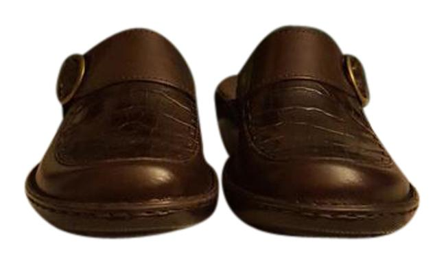 Item - Brown Leather Box Cicely New In Mules/Slides Size US 7 Regular (M, B)