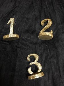 Wedding Table Numbers 1-17