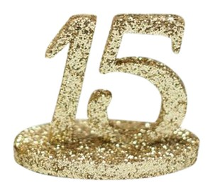 Gold Glitter Wedding Table Numbers 1-17