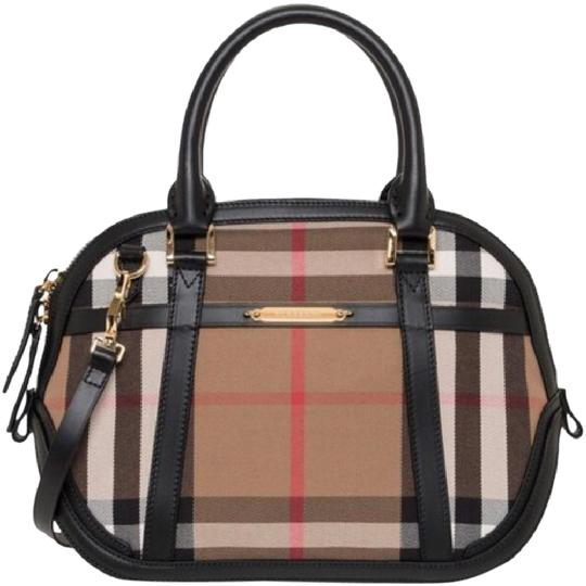 Preload https://item1.tradesy.com/images/burberry-orchard-black-leathercanvas-satchel-21243635-0-1.jpg?width=440&height=440