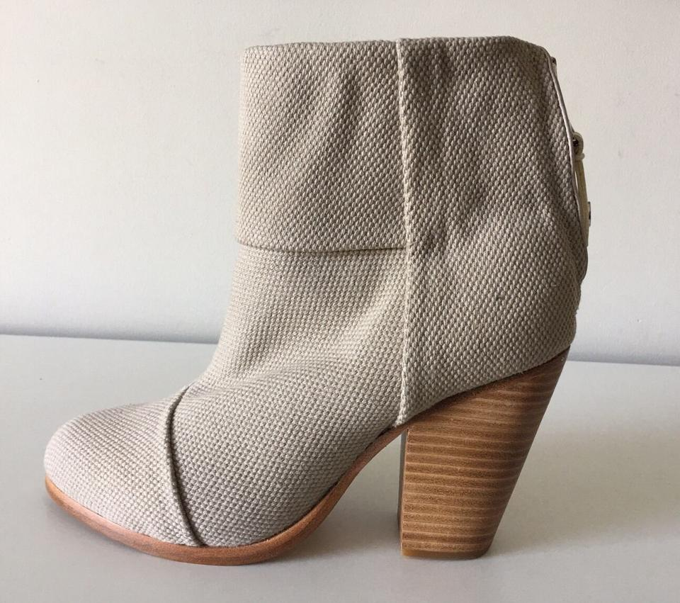 amp; Canvas Newbury Booties Gray Soft Rag Bone Classic Ankle Boots FgwwqCS7nx