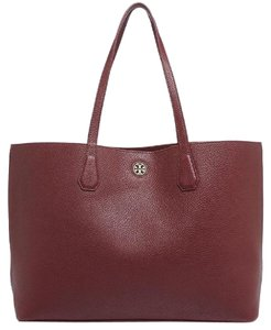 Tory Burch Leather Tote in Tea Stain