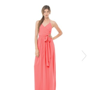 Joanna August Summertime (coral) Joanna August Dc Long Wrap Dress In Coral (summertime) Dress