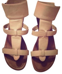 Classified white and tan Sandals