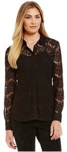 Karl Lagerfeld Lace Top Black