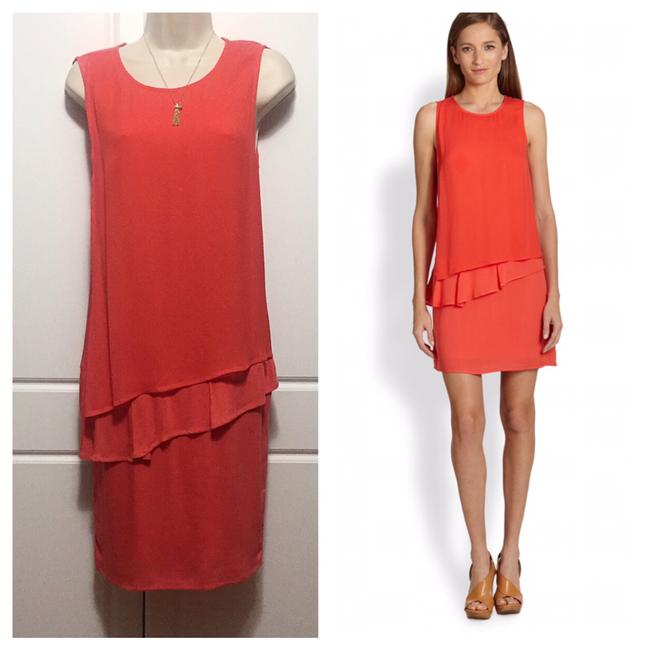 Preload https://img-static.tradesy.com/item/21243839/ella-moss-coral-tiered-shift-mid-length-workoffice-dress-size-10-m-0-0-650-650.jpg