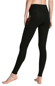Victoria's Secret Yoga Gym Skinny High Rise Side Insert black Leggings