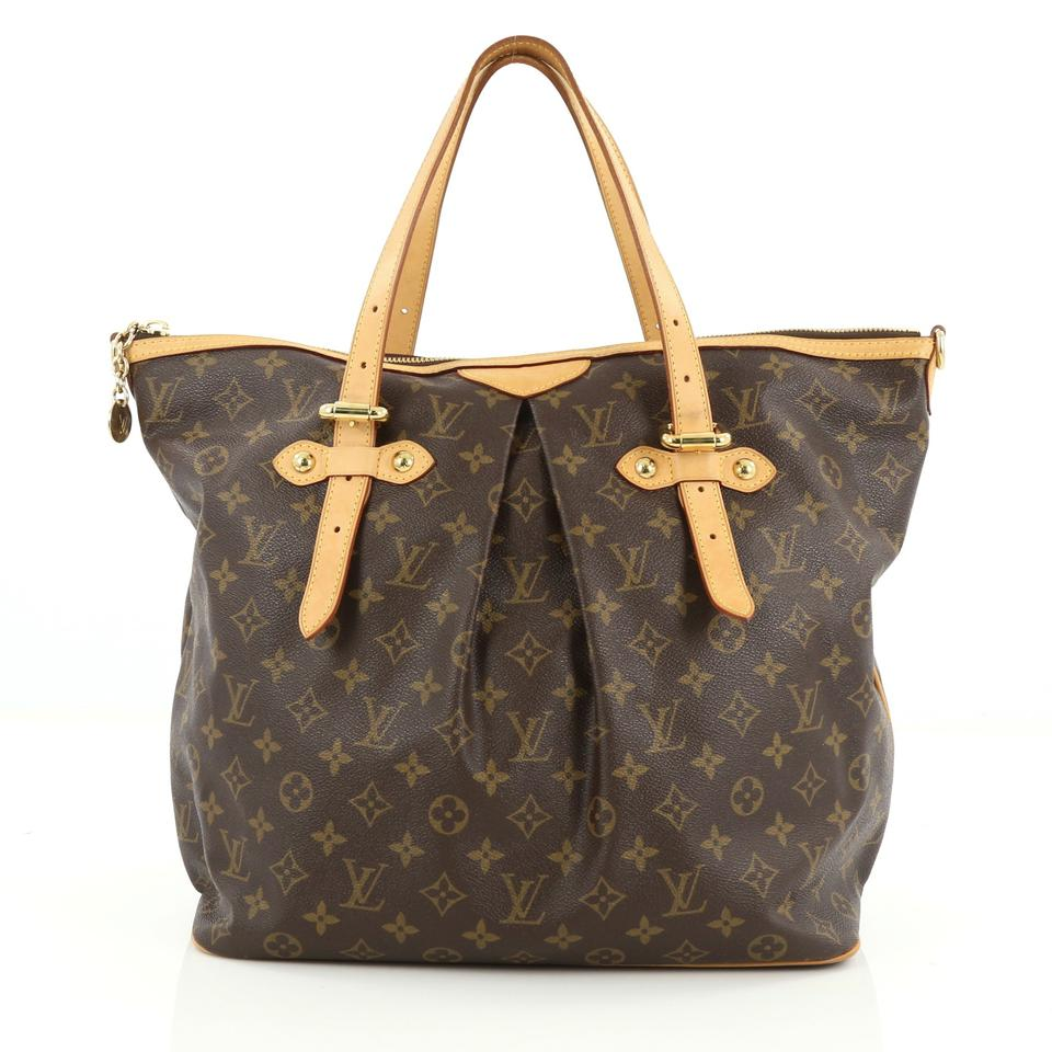 Louis Vuitton Palermo Monogram Bags Handbags Tote In Brown