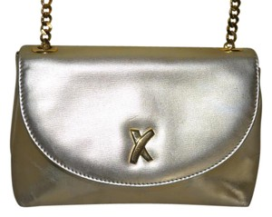 Paloma Picasso Gold Chain Leather Small Baguette