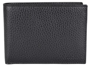 Gucci NEW Gucci 278596 Men's Black Leather Trademark Logo Bifold Wallet