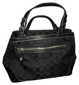 Coach Jacquard Satchel in Black