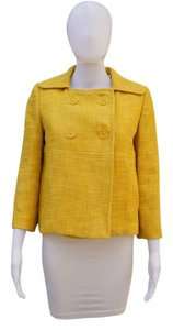 MILLY Cropped Tweed Yellow Jacket