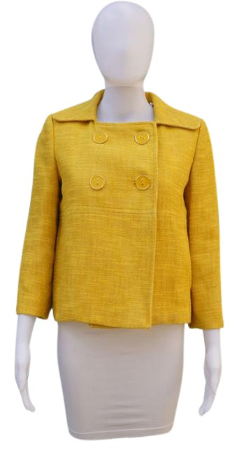 Preload https://img-static.tradesy.com/item/21244148/milly-yellow-tweed-cropped-spring-jacket-size-4-s-0-1-650-650.jpg