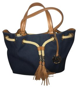 Michael Kors Tassel Tote in Navy