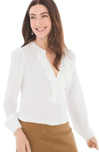 Chico's Ruffle Top Antique White