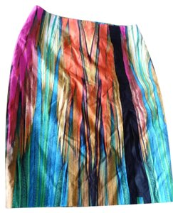 Worthington Skirt Multi-colored;Tuquoise,Orange,Black,Yellow,Fuscia,Green