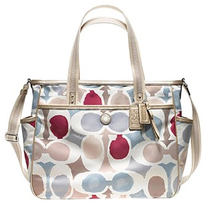 Coach Multifunction Tote Gold Multi Diaper Bag
