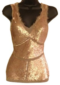 Arden B Sequin Top brown