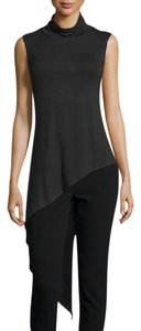 Haute Hippie Asymmetrical Top BLACK