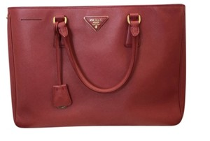 Prada Chanel Classic Gold Hardware Tote in Red