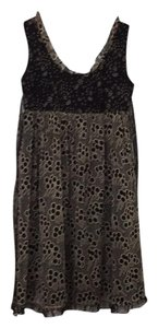 Anthropologie short dress black patterned on Tradesy