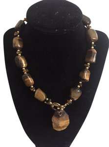 Other Beautiful, chunky tiger's eye necklace. In new condition.