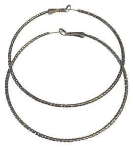 Express Express Grey Shimmer Hoop Earrings