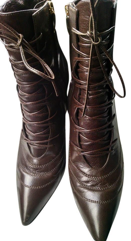 Sergio Rossi Rossi Sergio Brown Leather Ankle Boots/Booties f0912b