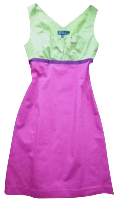Preload https://img-static.tradesy.com/item/21244398/boden-purple-green-sleeveless-colorblock-ribbon-tea-sundress-workwear-mid-length-workoffice-dress-si-0-1-650-650.jpg
