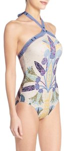 Tory Burch Provence Pompeii Mosaic One Piece Swimsuit Size L