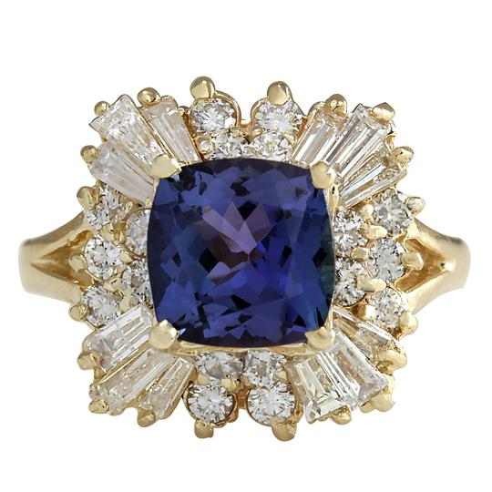 Preload https://img-static.tradesy.com/item/21244436/blue-344-carat-natural-tanzanite-14k-yellow-gold-diamond-ring-0-0-540-540.jpg