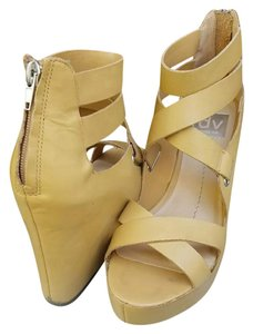 Dolce Vita Nude Leather Wedges